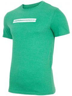 T-shirt męskiI TSM256 - zielony melanż