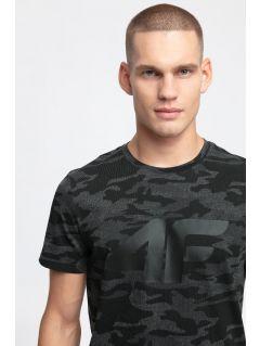 T-shirt męski TSM272 - czarny allover