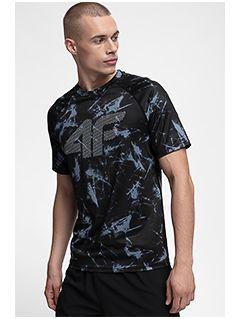 Koszulka treningowa męska TSMF150 - czarny allover