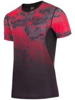 Koszulka treningowa męska TSMF200 - czerwony allover