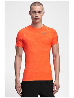 Koszulka treningowa męska TSMF258 - pomarańcz melanż