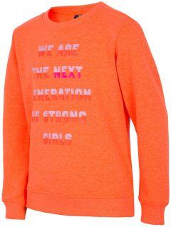 Bluza dla dużych dzieci (dziewcząt) JBLD204 - pomarańcz neon