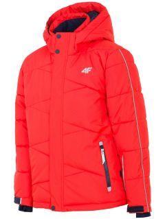 Kurtka narciarska dla dużych dzieci (chłopców) JKUMN400 - czerwony