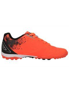 Buty piłkarskie dla dużych dzieci (chłopców) JOBMP400T - pomarańcz neon