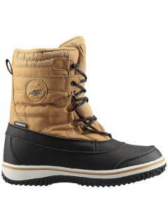 Buty zimowe dla dużych dzieci (chłopców) JOBM207 - żółty