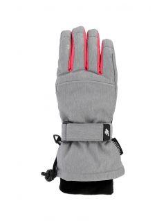 Rękawice narciarskie dla dużych dzieci (dziewcząt) JRED402 - szary melanż