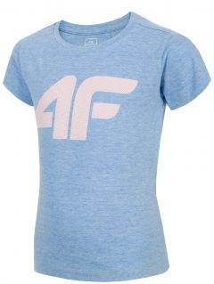 T-shirt dla małych dzieci (dziewcząt) JTSD101 - niebieski melanż