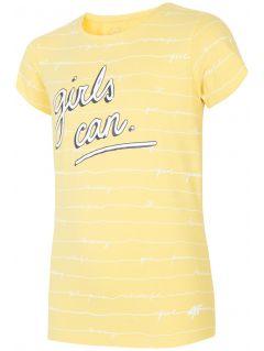 T-shirt dla dużych dzieci (dziewcząt) JTSD202A - żółty