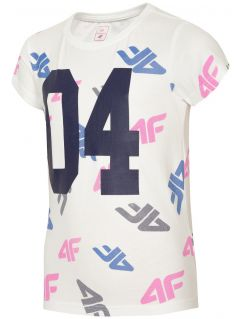 T-shirt dla dużych dzieci (dziewcząt) JTSD210 - biały