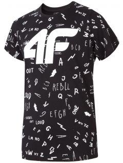 T-shirt dla dużych dzieci (chłopców) JTSM201 - czarny