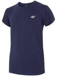 T-shirt dla dużych dzieci (chłopców) JTSM204 - granat