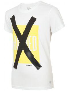T-shirt dla dużych dzieci (chłopców) JTSM206 - biały