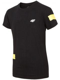 T-shirt dla dużych dzieci (chłopców) JTSM210 - czarny