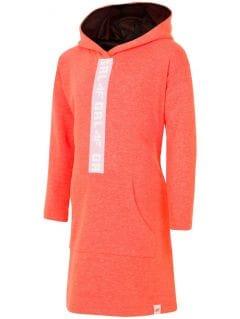 Sukienka sportowa dla dużych dzieci (dziewcząt) JSUDD203 - pomaranczowy neon