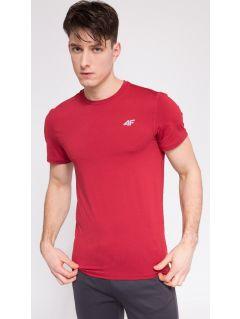 Koszulka treningowa męska  TSMF301 - czerwony melanż