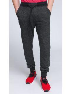 Spodnie dresowe męskie SPMD003 - głęboka czerń