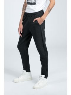 Spodnie dresowe męskie SPMD216 - głęboka czerń