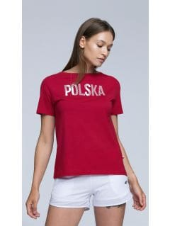 Koszulka kibica damska TSD501 - CZERWONY