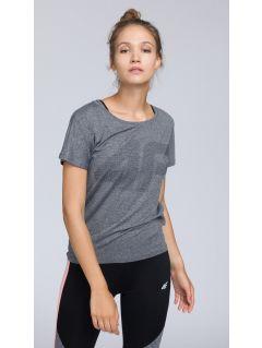 Koszulka treningowa damska TSDF005 - średni szary melanż