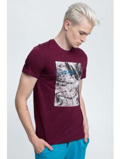 T-shirt męski TSM009 - ciemny fiolet