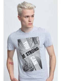 T-shirt męski TSM022 - chłodny jasny szary