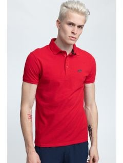 Koszulka polo męska TSM024 - ciemna czerwień