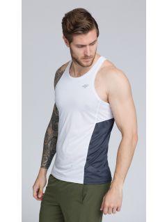 Koszulka treningowa bez rękawów męska TSMF262 - biały