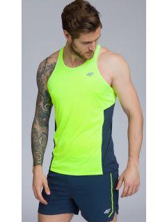 Koszulka treningowa bez rękawów męska TSMF262 - soczysta zieleń
