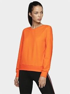 bcee46a0 Bluza damska V-neck BLD703 - pomarańcz