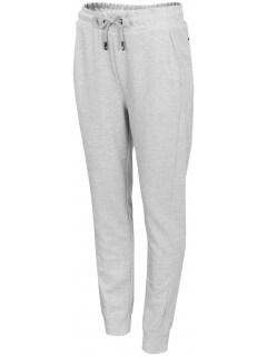 4b10363daa18e1 Spodnie dresowe damskie SPDD401 - chłodny jasny szary melanż