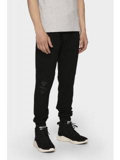14d0b22eb Spodnie dresowe męskie SPMD205 - głęboka czerń