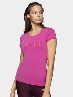 Koszulka do biegania damska TSDF165 fuksja