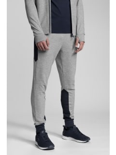 a5185d826 Spodnie dresowe męskie Kamil Stoch Collection SPMD501 - szary melanż