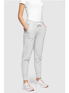 531651ca2a3ffc Spodnie dresowe damskie SPDD300 - chłodny jasny szary melanż
