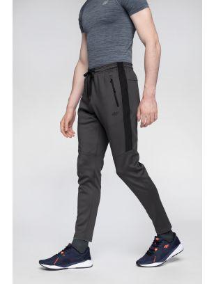 Spodnie treningowe męskie SPMTR272 - średni szary