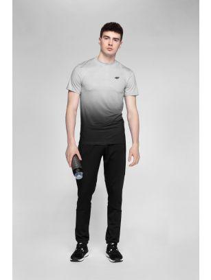 Koszulka treningowa męska TSMF272 - średni szary allover