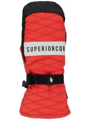 Rękawice narciarskie damskie RED250 - czerwony