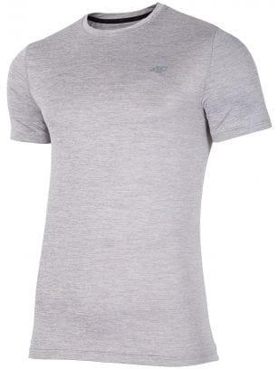 Koszulka treningowa męska TSMF301 - chłodny jasny szary melanż