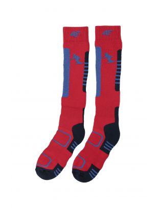 Skarpety narciarskie dla dużych dzieci (chłopców) JSOMN401 - czerwony