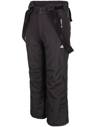 Spodnie narciarskie dla dużych dzieci (chłopców) JSPMN400 - czarny