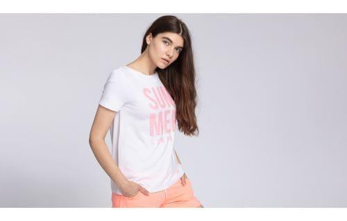 T-shirt damski TSD449 - biały