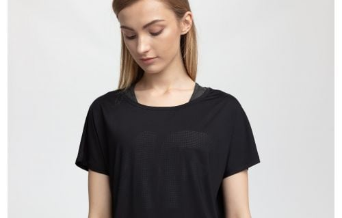 Koszulka treningowa damska TSDF005 - czarny