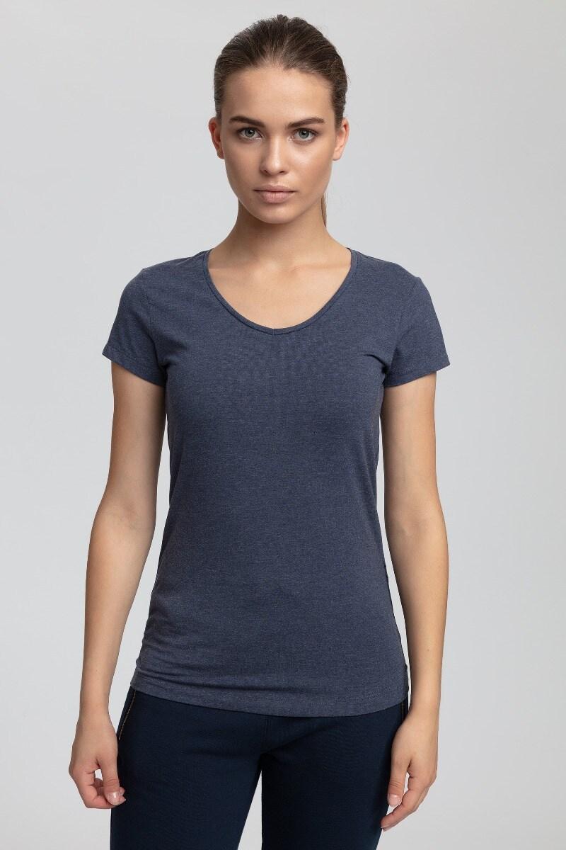 T-shirt damski TSD302 - denim melanż