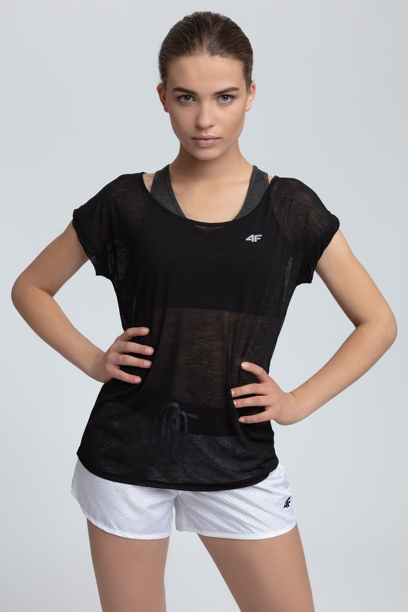Koszulka treningowa damska TSDF254 - głęboka czerń
