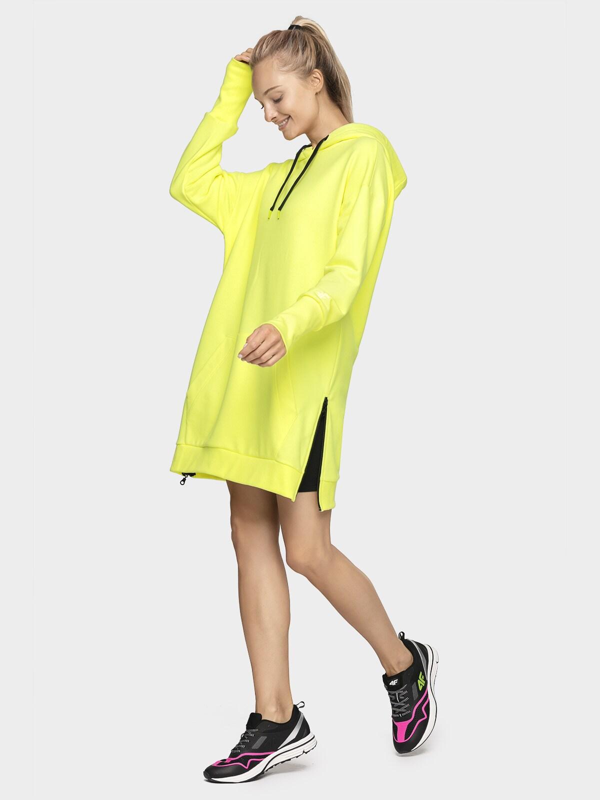 Bluza damska z suwakami po bokach BLD701 - limonka neon