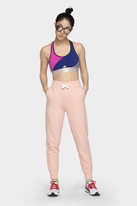 Pantaloni pentru femei SPDD300B - roz deschis melanj