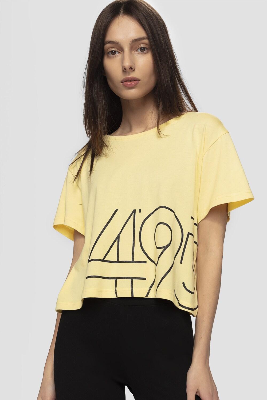 T-shirt damski TSD266 - jasny żółty
