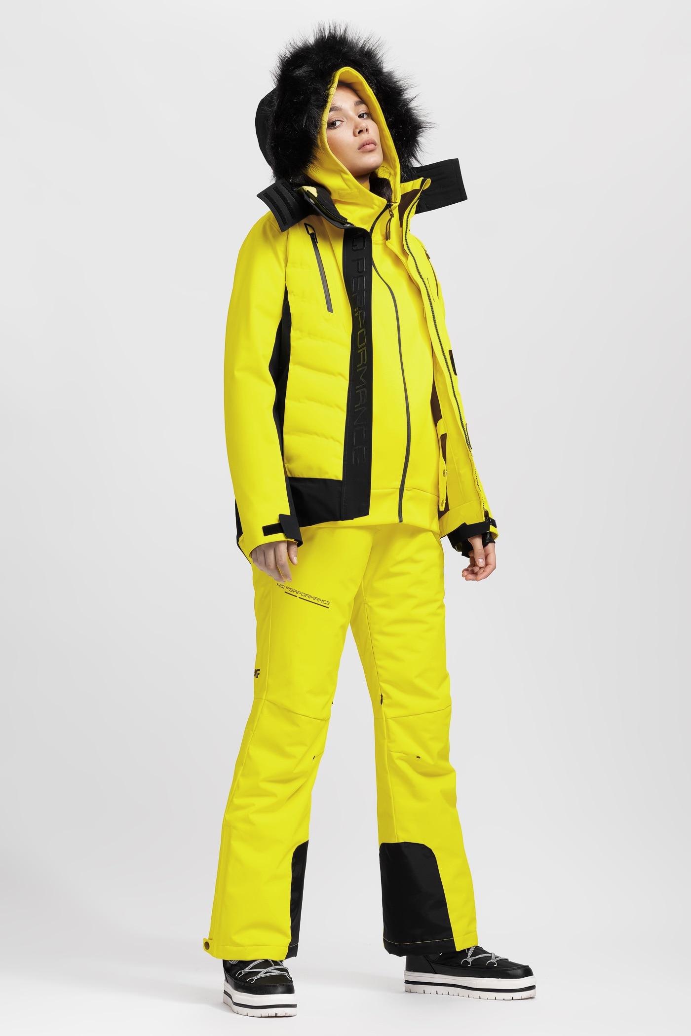 Kurtka narciarska damska KUDN161A - żółty