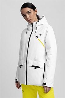 Kurtka narciarska damska KUDN255 - biały