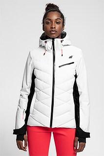 Kurtka narciarska damska KUDN256 - biały